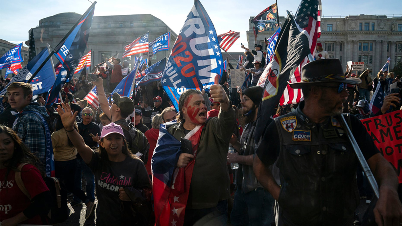 幾萬人在華府大遊行,支持川普